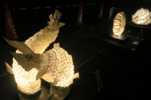 Mino washi AKARI exhibition at Mino city, Gifu, Japan