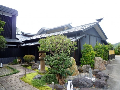 Murakami's Shintaku restaurants beautiful gardens.