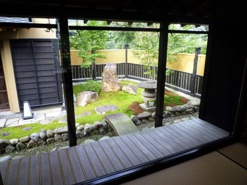 Beautiful garden at Murakami's Shintaku restaurant.