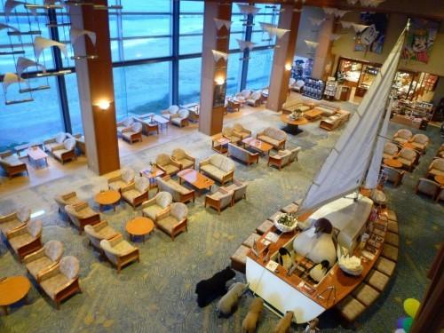 Ryokan Lobby at Senami Onsen, Murakami.