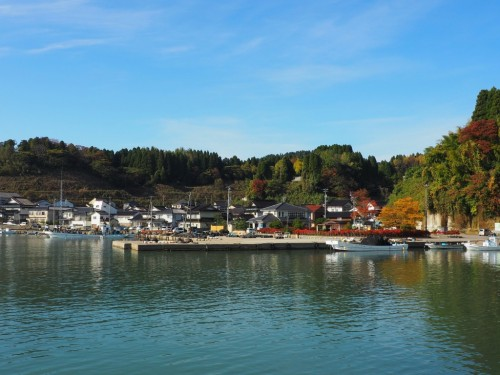 The little fishing village in Himi city, Toyama prefecture, Japan.