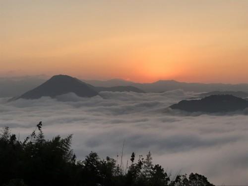 Sea of clouds (unkai) found in Ozu City, Shikoku Island, Japan
