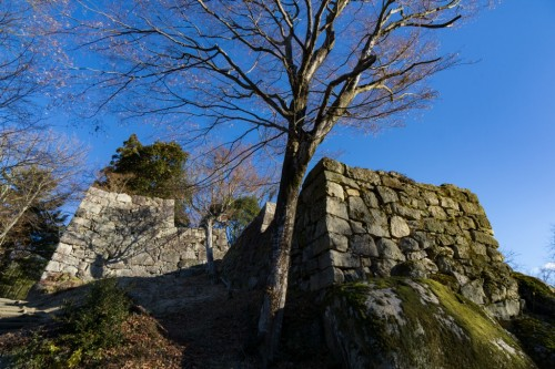 Naegi Castle Ruins in Nakatsugawa City, Gifu Prefecture, Japan.
