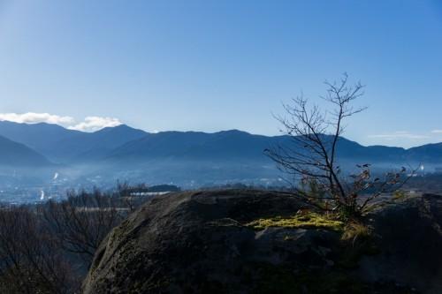 Naegi Castle Ruins in Nakatsugawa City, Gifu Prefecture, Japan.