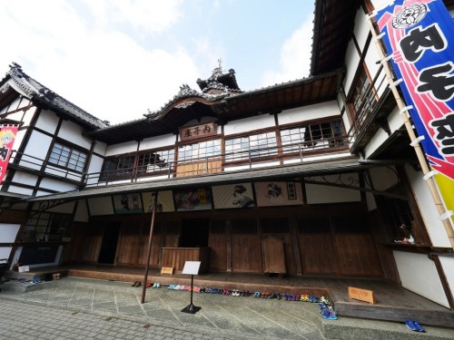 The wooden Uchiko-za theater in Uchiko town, Ehime, Japan.