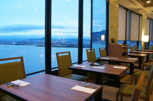 Lake Biwa Otsu Prince Hotel close to Kyoto, in Shiga prefecture ,Japan.