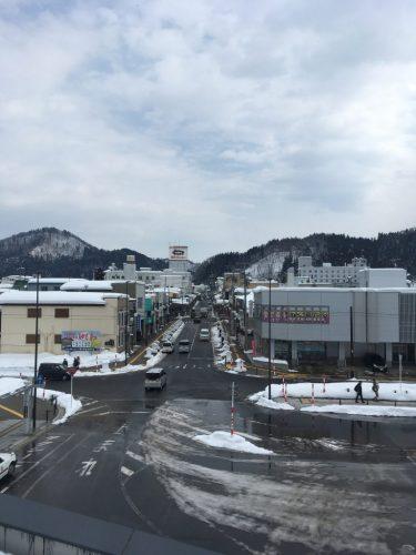 Yuzawa city in winter