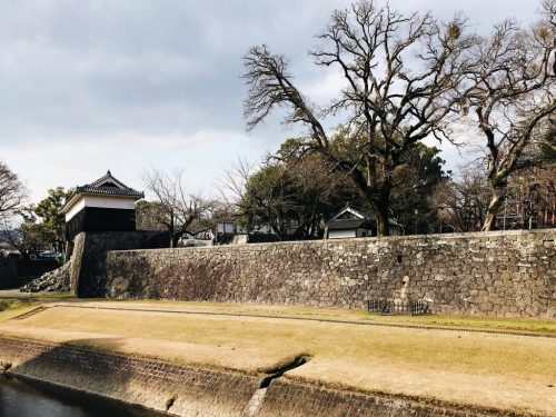 Kumamoto Castle in the heart of Kumamoto city to rebuild for the Tokyo Olympics 2020.