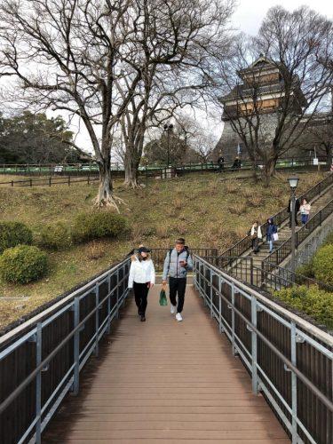 Kumamoto Castle Park to explore Kumamoto Castle, Kyushu, Japan.
