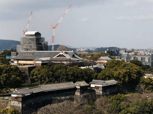 "Kumamoto Castle is designated as ""important cultural property""."