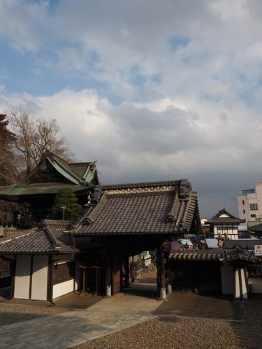 The historical Narita-san Temple and its gate near the Narita International Airport in Japan.