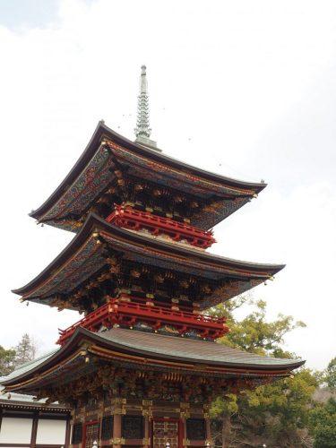 The historical Narita-san Temple and its pagoda near the Narita International Airport in Japan.