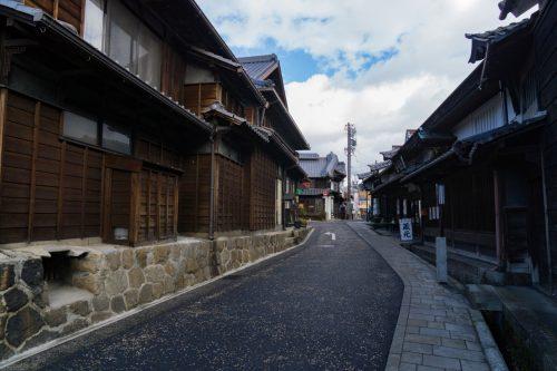 Nakatsugawa-juku Post Town close to Magome, Gifu, Japan.