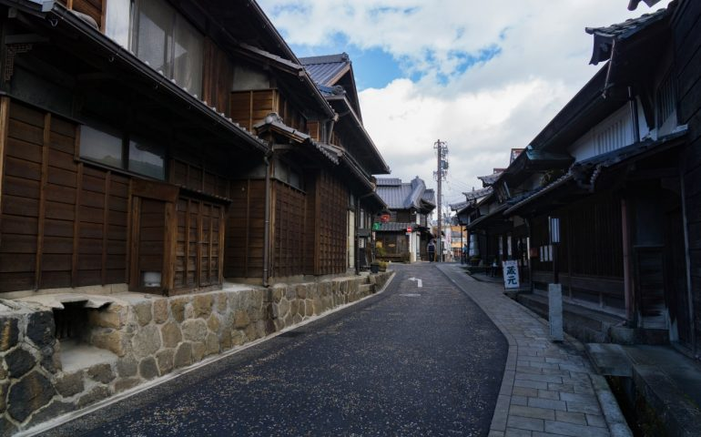 Nakatsugawa-juku Post Town close to Magome, Gifu, Japan.