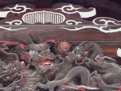 Beautiful Carving at Zuirin-ji Temple at Yanesen area  in Tokyo, Japan.