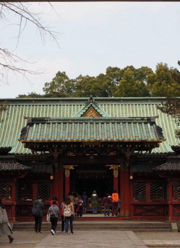 Nezu Shrine at Yanesen area  in Tokyo, Japan.
