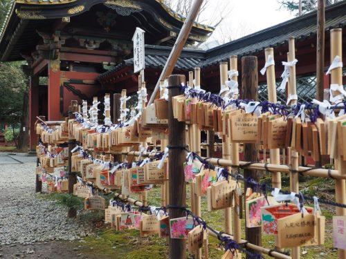 Enma at Nezu Shrine at Yanesen area  in Tokyo, Japan.