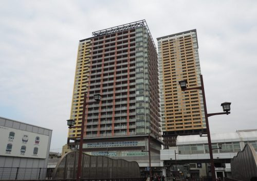 Nippori Station Buildings on the Keisei Line, Tokyo.