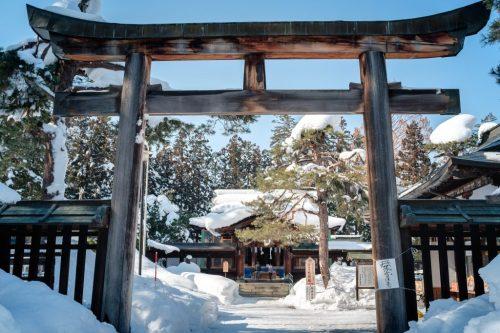 Useugi Shrine to Samurai at Yonezawa Castle in Yamagata Prefecture