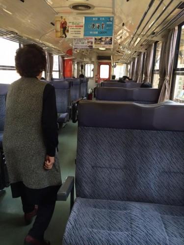 Local Train Shimabara Railway Nagasaki Kyushu Japan Shimatetsu Peninsula Isahaya