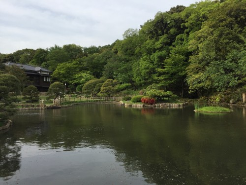 Kagurazaka Neighborhood Guide Shouseikaku Gardens Walking Path Pond Greenery Tokyo Japan