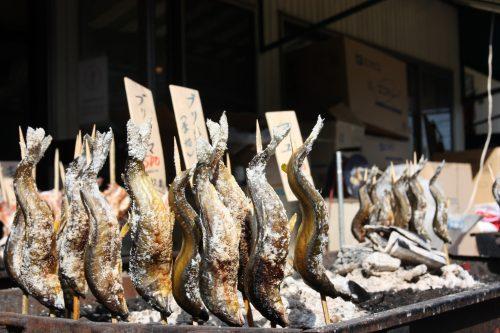 Pier Bandai Fish Market Fresh Seafood Grilled Fish Niigata City Local Cuisine