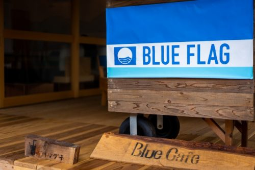 The Blue Cafe near Wakasa-Wada Blue Flag Beach!