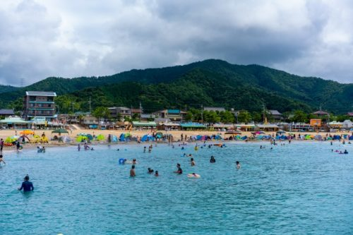 Check out the beach-side shops at Wakasa-Wada Blue Flag Beach!