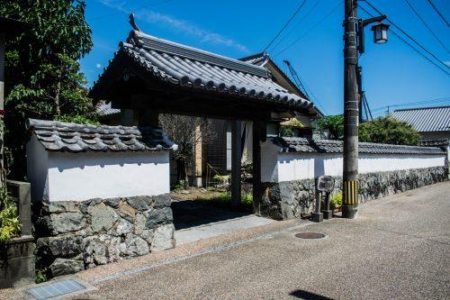Entrance to a samurai house in Saiki, Oita Prefecture, Japan