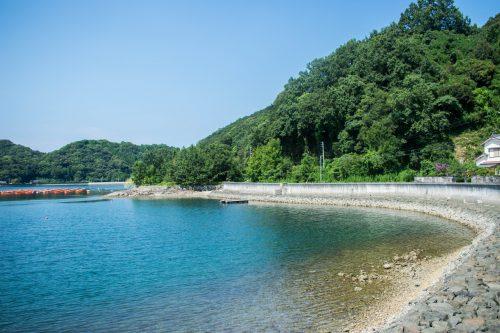 Turquoise sea water on Ohnyujima Island, Oita Prefecture, Japan
