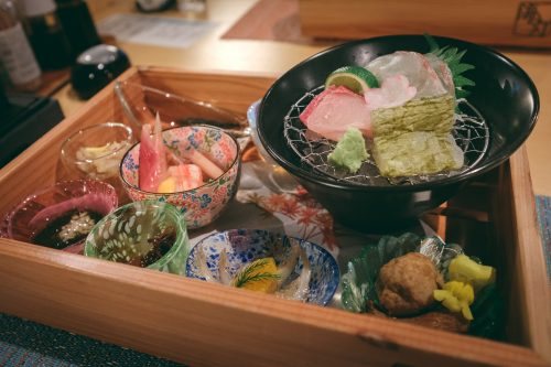 Seafood dinner at Himi Umiakari Onsen in Toyama Prefecture