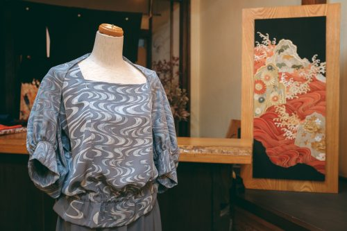 Arts and crafts shop in Yatsuo Village, Toyama.