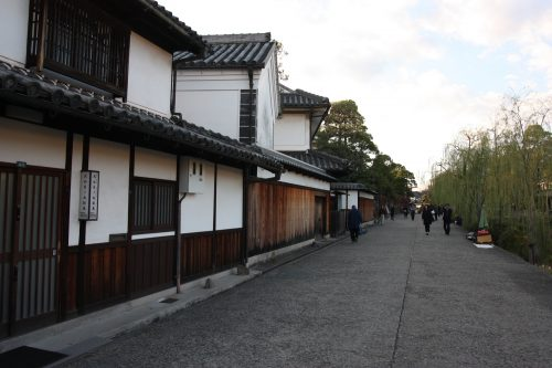 Merchant homes in the Bikan historic distict of Kurashiki, Okayama.