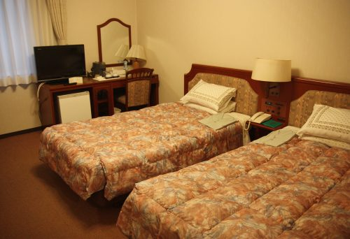 A standard room at Kurashiki Ivy Square in Kurashiki, Okayama.
