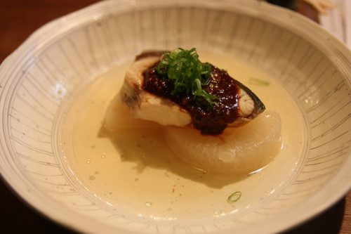 One of the delicous dishes at Mingeichaya, an izakaya restaurant in Kurashiki, Okayama.