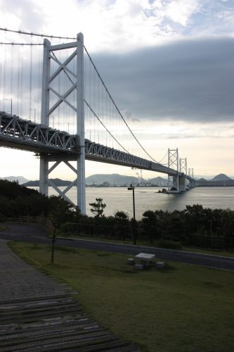 Ohashi Bridge crosses the Seto Inland Sea between Kagawa and Okayama prefectures.