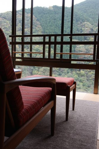 Incredible views for the rooms at Iya Onsen Hotel, Tokushima.