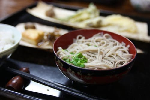 Traditional soba making experience in the Iya Valley area.