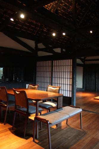 Lovely furnishing in a restored home for vacation rental at Ochiai hamlet in Tokushima.