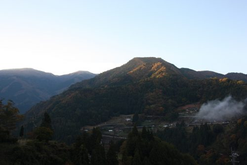 First light of morning at Ochiai hamlet in Tokushima.