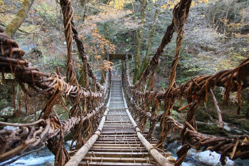 The mystery of the vine bridges of the Iya Valley, Shikoku.
