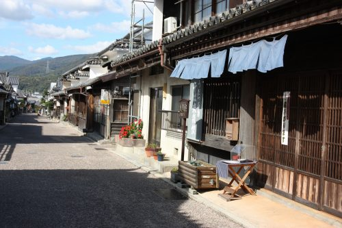 Edo period streets of Udatsu in Mima town, Tokushima.
