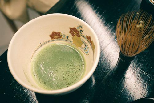 Tea tasting at Sakai Plaza of Rikyu and Akiko, museum dedicated among others to Sen no Rikyu, master of the tea ceremony, Sakai, Osaka, Kinki region, Japan