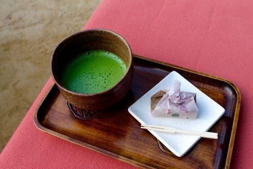 Korakuen foliage illumination teahouse and wagashi in Okayama City
