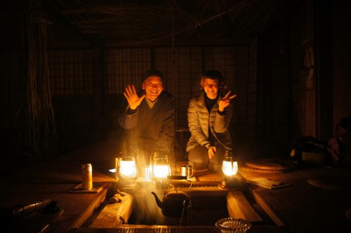 Hajime-san, owner of Fuben-ya, traditional house without electricity or running water in the San'in area, Japan