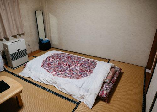 Room at Lodge Yodel, Tazawako, Semboku, Akita, Tohoku, Japan.