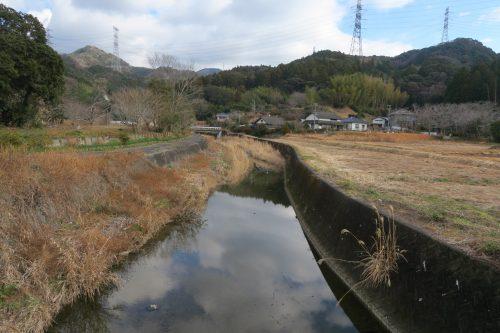 Winter landscape Kakegawa, Shizuoka.