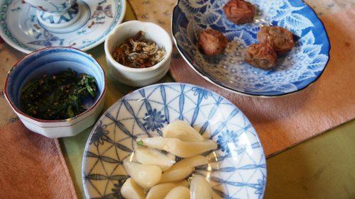 A huge homemade Japanese breakfast at my Izumi farm stay.
