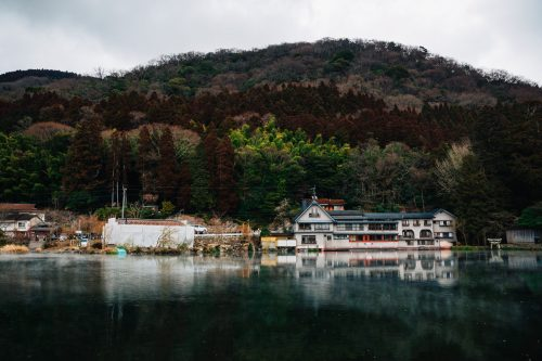Kinrin Lake in Yufuin, Yufu City, Oita.