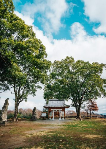 Shrine at Oka Castle Ruins, Taketa city, Oita, Kyushu